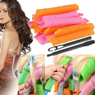 ♞18/40Pcs Long Hair Curlers Curly Formers Rollers Spiral Ringlets Beauty Tool