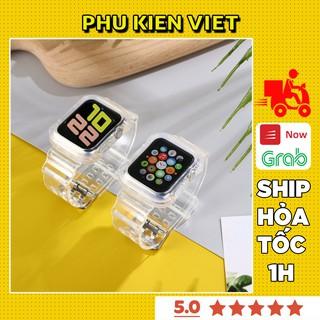 Bộ Ốp Và Dây Apple Watch Nhựa Trong Suốt Cho Đồng Hồ Thông Minh Series 1/2/3/4/5/6/SE T500 - Phụ Kiện Việt