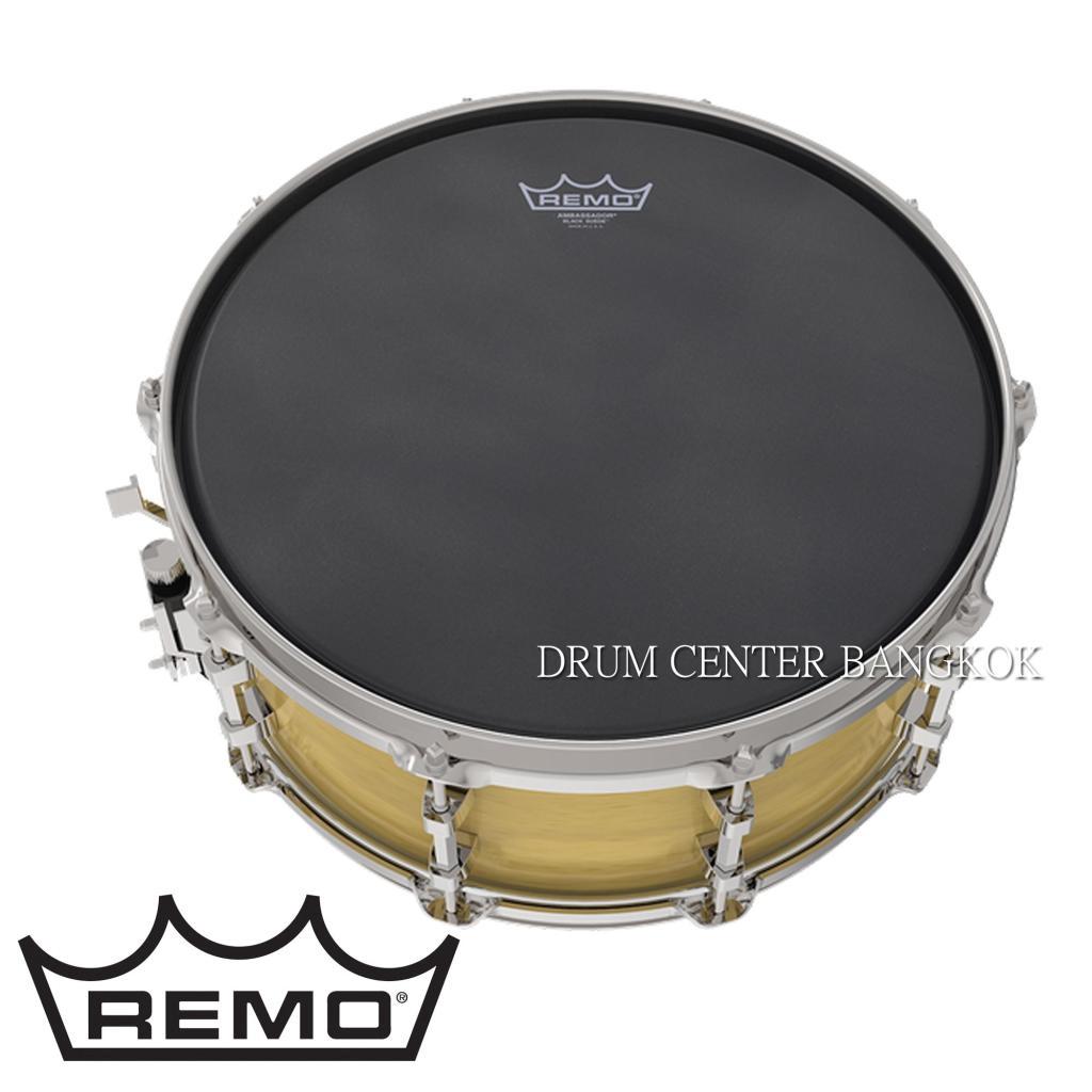 Musical Instrument Remo หนังกลอง สแนร์ Ambassador Black Suede 14