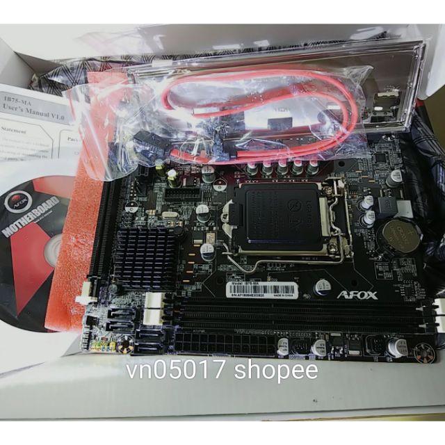 Mainboard Afox b75 -MA socket 1155, new 99,99% (chưa sử dụng, trôi bảo hành) , bảo hành thns 26-10-2021 Giá chỉ 850.000₫