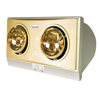 Đèn sưởi nhà tắm Navado  NAV8002V, sử dụng 2 bóng chống nổ,  sản xuất tại Việt Nam, bảo hành 60 Tháng chính hãng