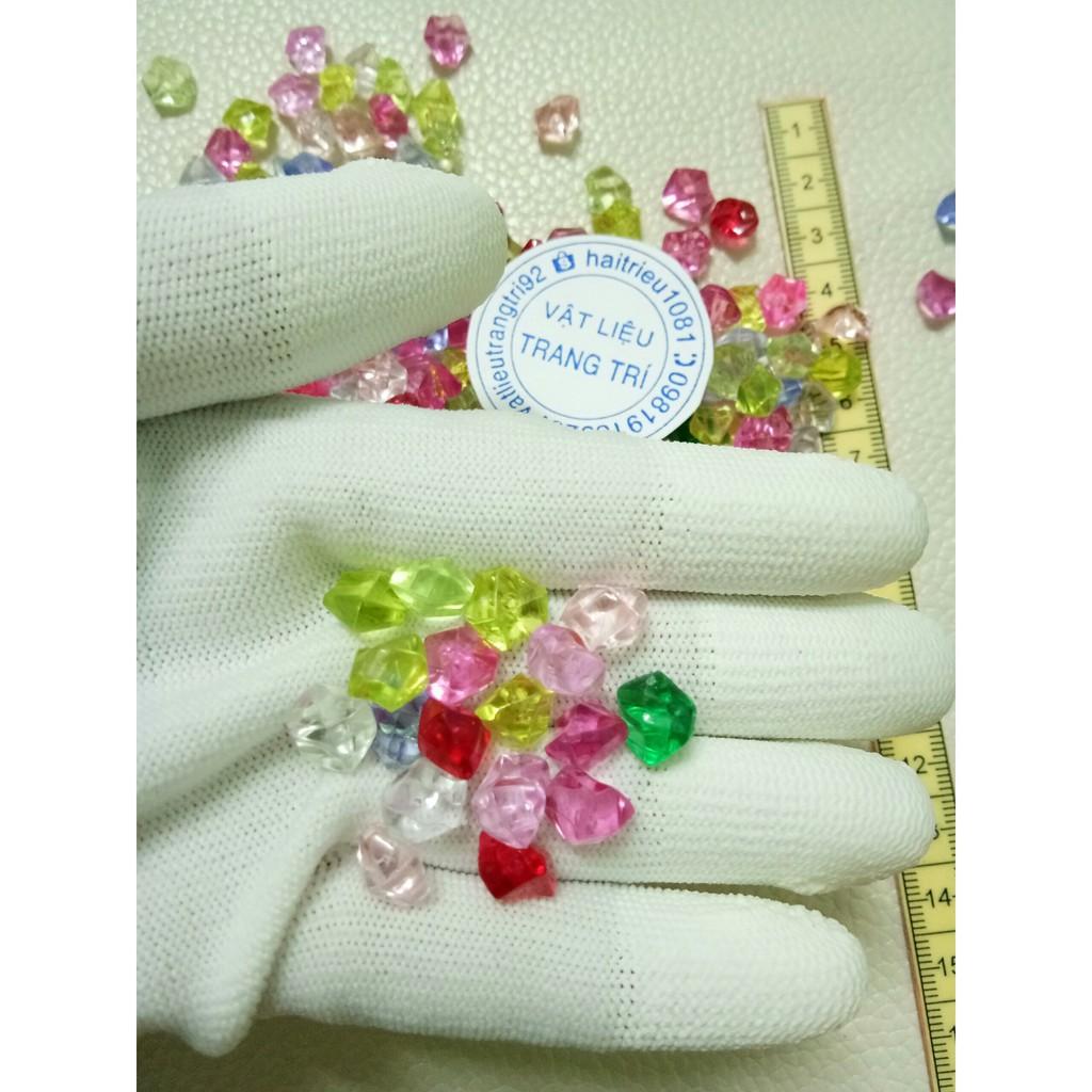 20g hạt nhựa kim cương nhiều màu 9k/túi/90-95viên