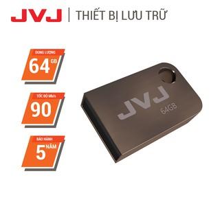 USB 64Gb/32Gb/16Gb 2.0 JVJ FLASH S2 siêu nhỏ vỏ kim loại -  tốc độ 100MB/s chống nước chống nhiệt, Móc khóa