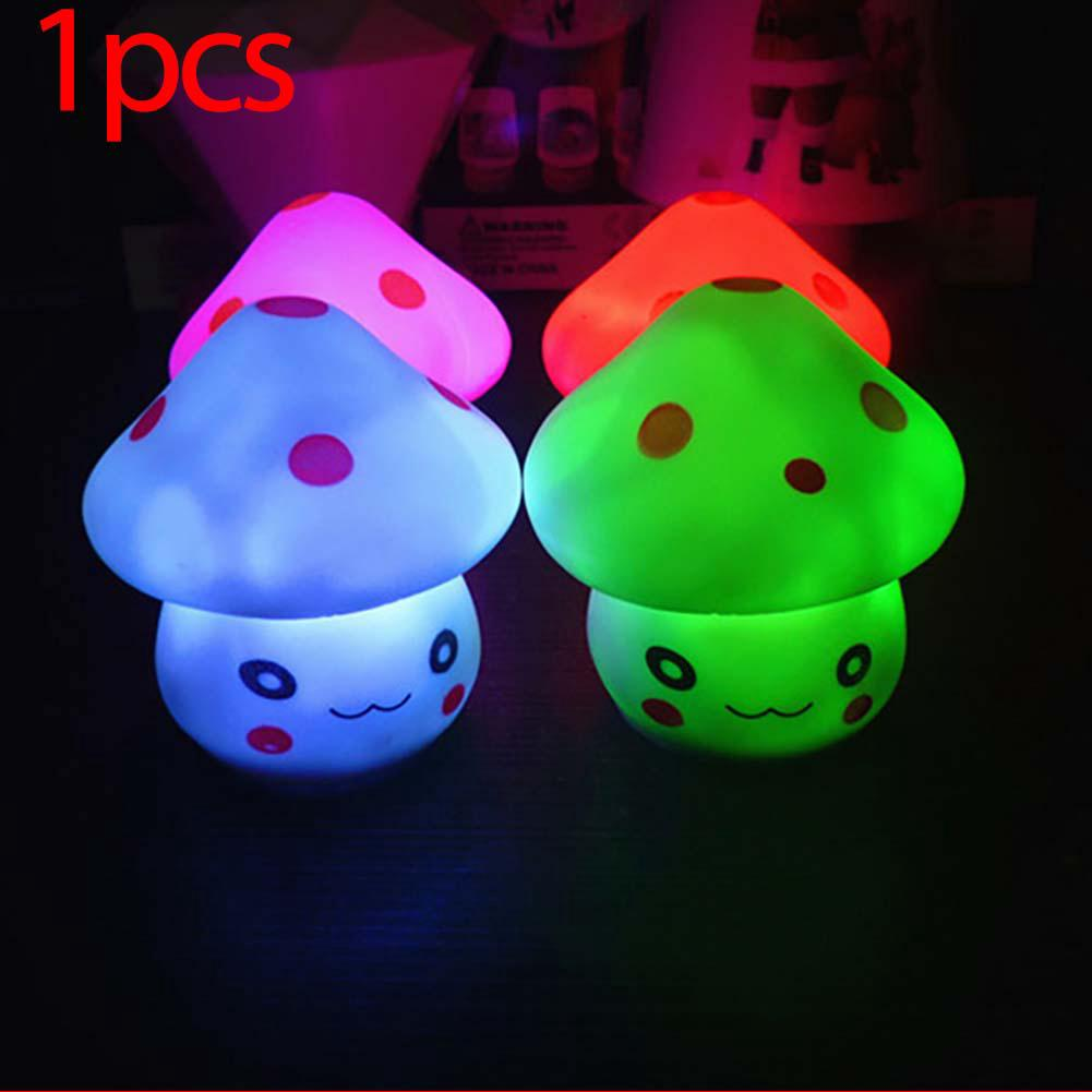 Cute Mushroom Shaped LED Night Light Lamp for Decoration Colorful Bright