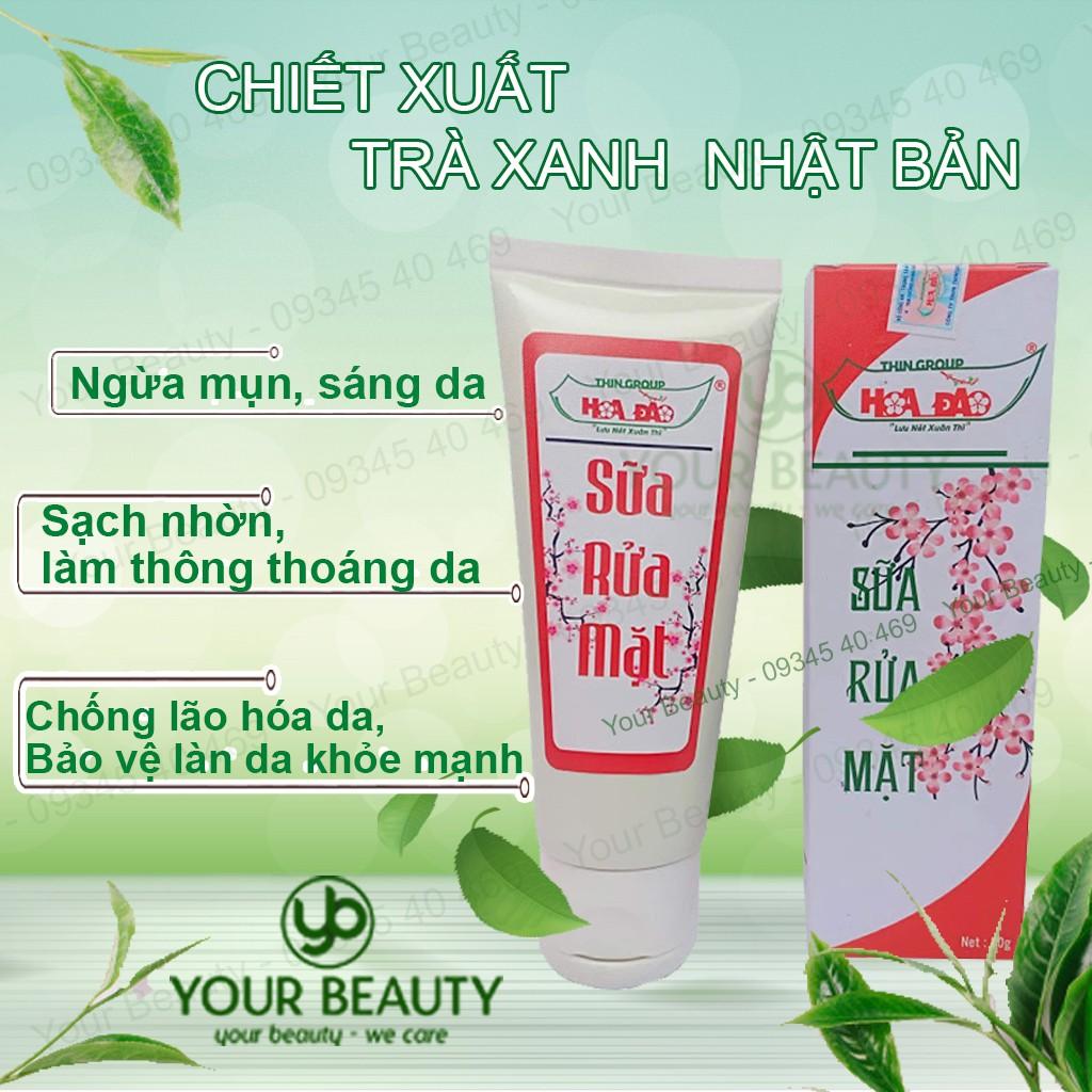 Sữa rửa mặt trà xanh Hoa Đào ngừa mụn, sáng da, sạch nhờn, ngăn ngừa lão hóa - ThinGroup