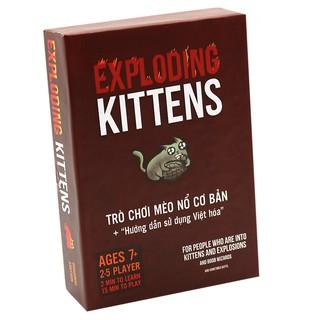 Bài mèo nổ đỏ dày – Exploading Kittens New 2019 (Hộp cứng xịn)