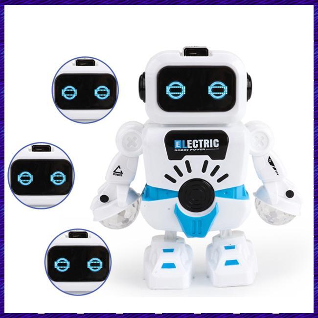 Kids Mini Electric LED Lighting Music Robot Shape Puzzle Toy