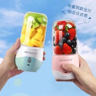 Máy xay sinh tố HONGUO 6 lưỡi cầm tay mini sạc pin 300ml