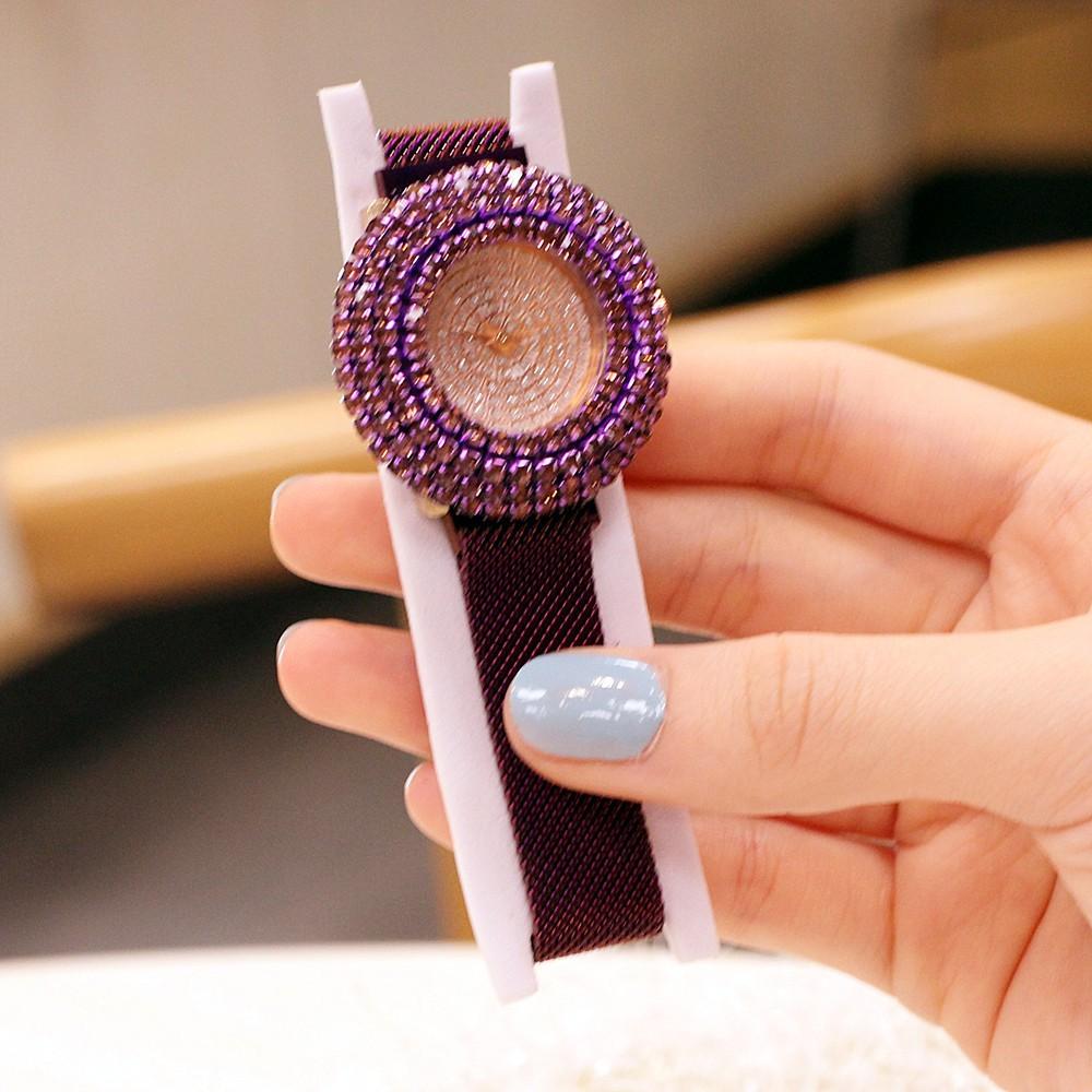 นาฬิกาข้อมือสตรี quartz ระบบอนาล็อกทําจากสแตนเลส
