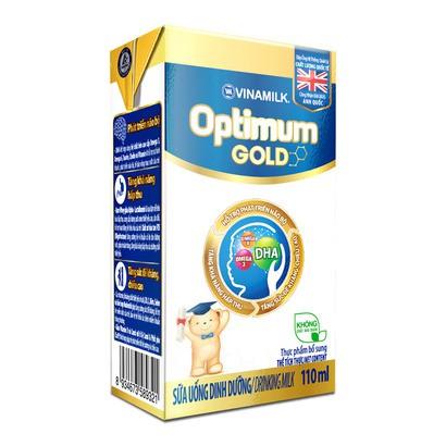 Lốc 4 hộp sữa bột pha sẵn Vinamilk Optimum Gold 110ml