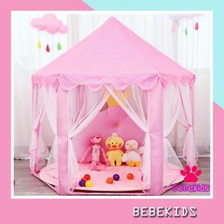 Lều công chúa cho bé gái, lều hoàng tử bé trai hình lục giác thumbnail