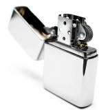 Bật lửa đá xăng Classic Cổ Điển kèm box F503 (trắng bạc)