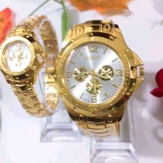 Đồng hồ Dotime nam nữ đồng hồ đeo tay mặt trắng dây kim loại cao cấp ZO55