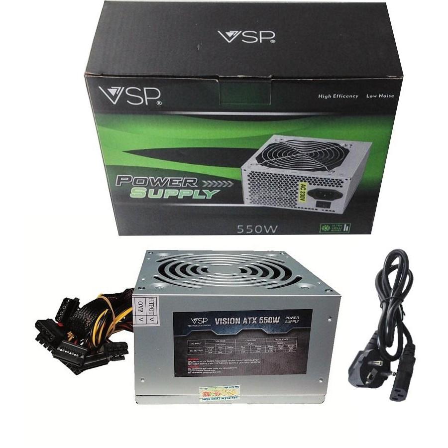 Nguồn Vision VSP 550W. Công suất mạnh, ổn định. Kèm dây nguồn