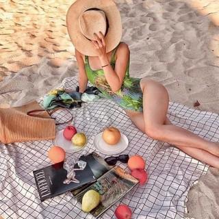 Khăn trải bàn ăn, tấm trải thảm du lịch chụp ảnh picnic caro bằng nhựa PVC chống thấm nước gấp gọn tiện dụng thumbnail