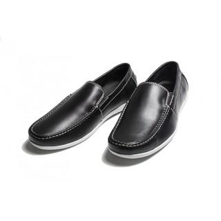 Giày lười nam da trơn màu đen VA-1535
