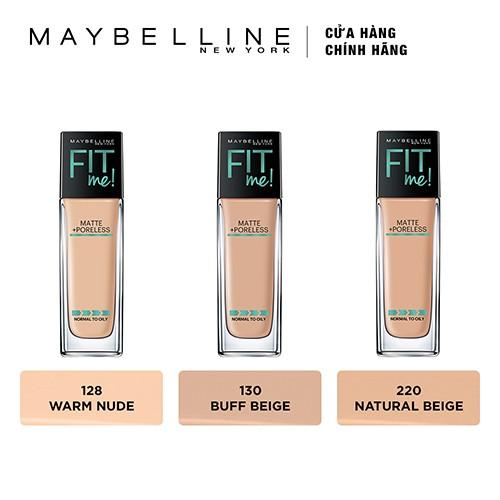 Kem nền lì tự nhiên Maybelline Fit Me Matte Poreless Foundation 30ml