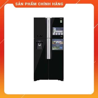 [ FREE SHIP KHU VỰC HÀ NỘI ] Tủ lạnh Hitachi 4 cánh màu đen đá tự động R-FW690PGV7X(GBK)
