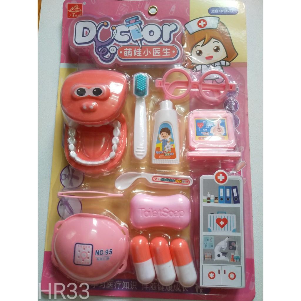 Bộ đồ chơi nha sĩ, bé tập làm bác sĩ