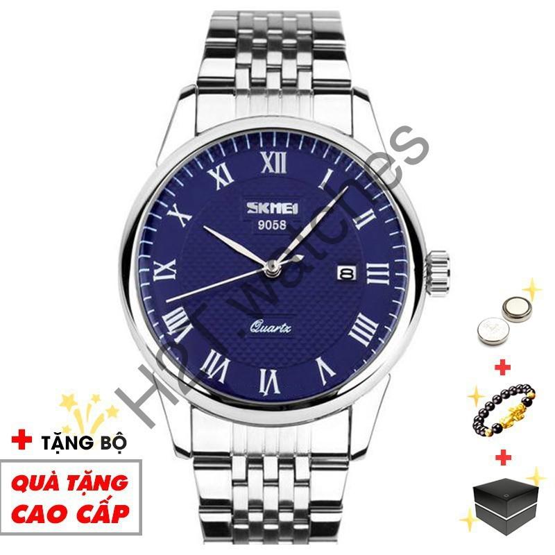 Đồng hồ nam SKMEI chính hãng dây da cao cấp chống nước SME21