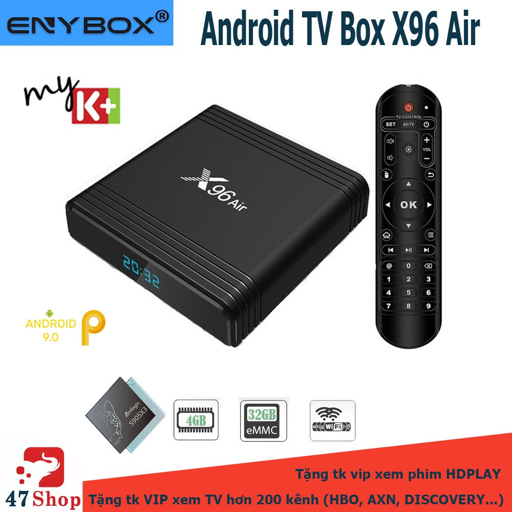Android TV Box X96 Air - Amlogic S905X3, 4GB RAM, 32GB ROM, Android 9, Wifi MU-MIMO