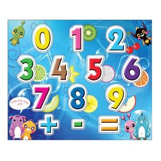 Bộ đếm số toán học bằng gỗ ép của Happy time