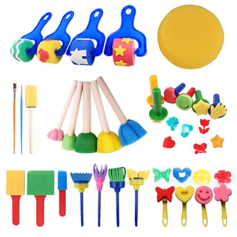 30pcs New Kids Painting Brushes Sponges Paint Brushes Set for Children Toddler ☆MeetSellMall