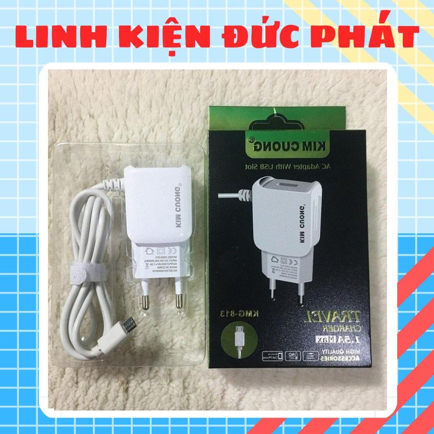 cóc SẠC KIM CƯƠNG KMG - 813 MICRO USB 1.5A