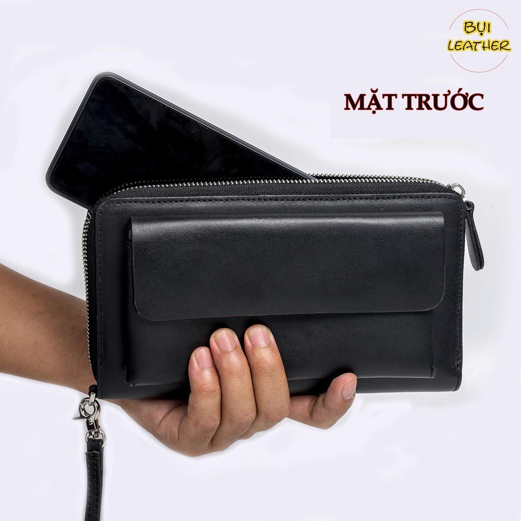Ví cầm tay nam da bò C107 cao cấp-Bụi Leather