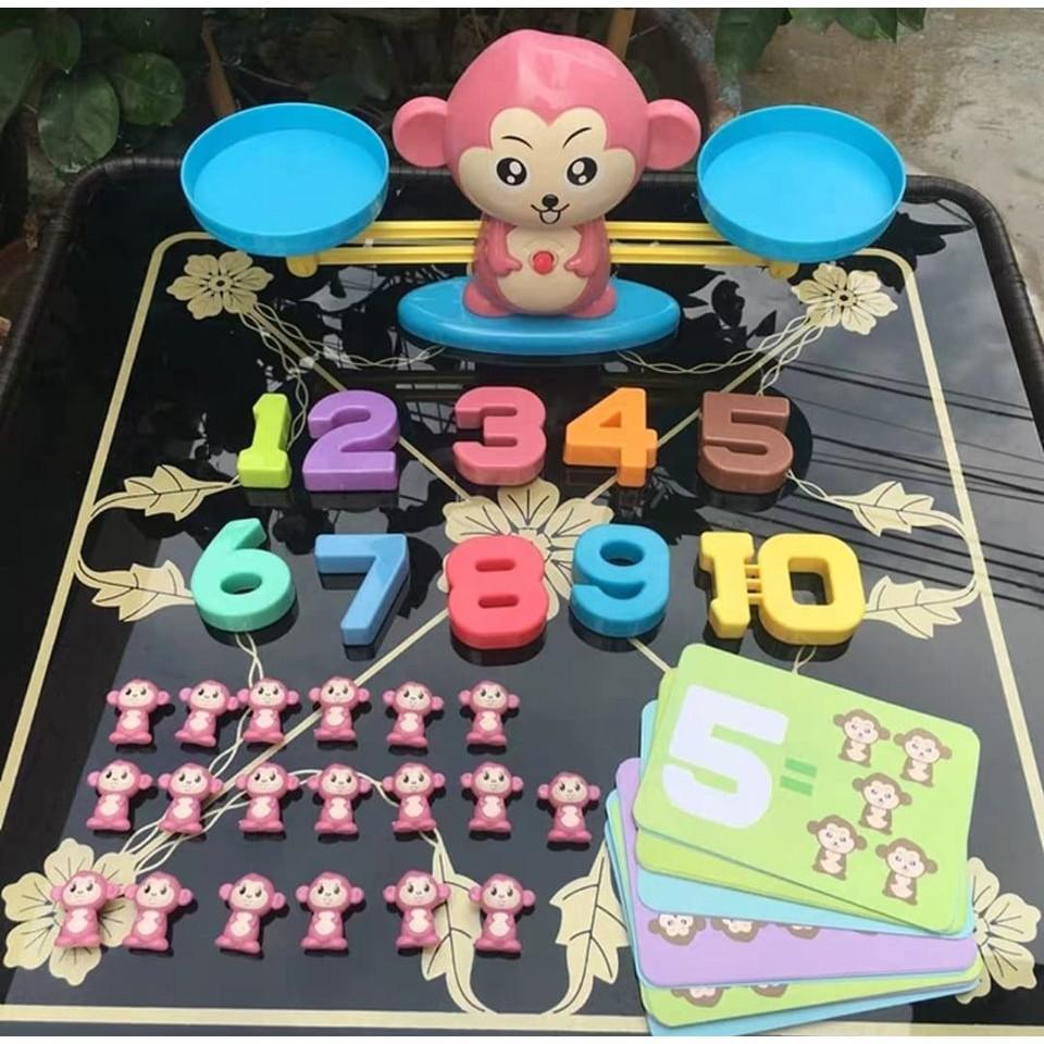 Review đồ chơi giáo dục - cân bằng toán học khỉ con/ thông minh - đồ khuyến  mãi giá tốt
