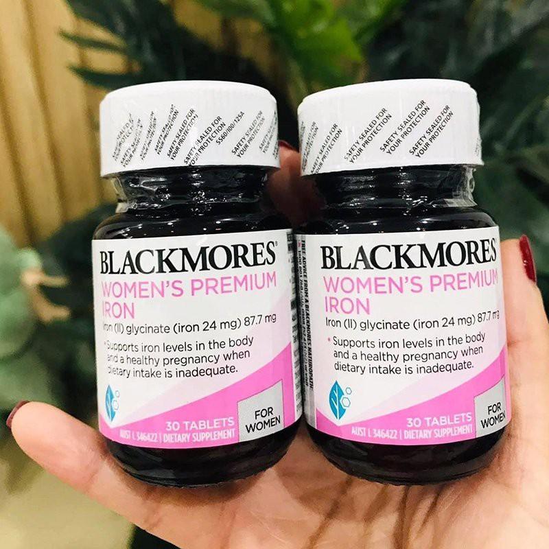 (Combo 2 lọ ) Sắt cho bà bầu Blackmores Pregnancy Iron, lọ 30 viên nhập khẩu