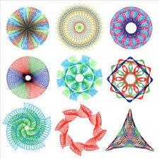 Thước vẽ hình học Spirograph/ Thước vẽ ma thuật ( tặng kèm giấy vẽ ma thuật Scratch paper )