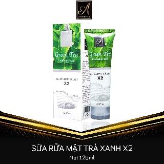 Sữa Rửa Mặt Trà Xanh X2 120 ml Giúp làm sạch sâu, se khít lỗ chân lông và làm sáng da mịn màng thumbnail