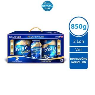 Bộ 02 lon Ensure Gold Abbott (HMB) 850g/lon và 02 chai Ensure Gold Vigor Abbott 237ml/chai