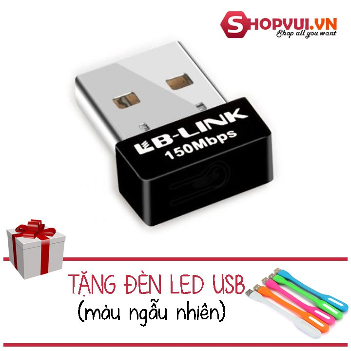 Usb thu wifi LB-LINK BL-WN151 Nano + đèn led usb siêu sáng