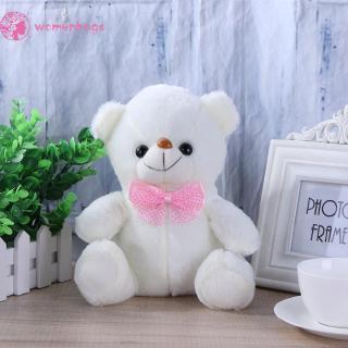 WB✿ Sound Recording Colorful Luminous Glowing Bear Stuffed Plush Toy Kids Gift
