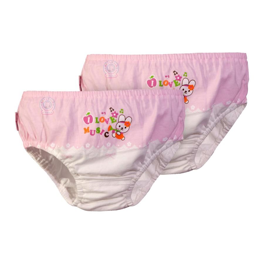 Bộ 2 Quần Sịp bé gái QL0089 màu hồng - HELLO B&B - 3496209 , 712430023 , 322_712430023 , 80000 , Bo-2-Quan-Sip-be-gai-QL0089-mau-hong-HELLO-BB-322_712430023 , shopee.vn , Bộ 2 Quần Sịp bé gái QL0089 màu hồng - HELLO B&B