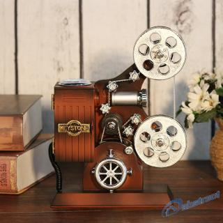 AB Retro Wood Metal Projector Model Music Box Antique Musical Jewelry Box Gift