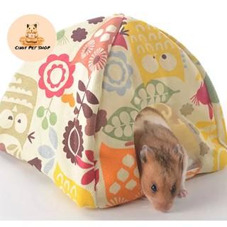 Nhà ngủ túp lều bông 20x20cm cho Hamster, Bọ baby, Nhím baby... thumbnail