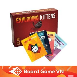 Combo Card game Nổ Tưng Bừng Combo Mèo nổ Exploding Kittens và 4 Bản mở rộng – BoardGameVN