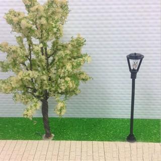 10pcs Model Garden Lamps HO Scale 1:100 Black Layout Garden Lights Model