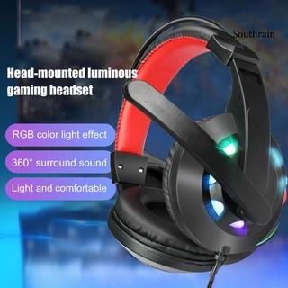 SoutA65 Headphone Wired Luminous Mini Gaming Headphone for Computer