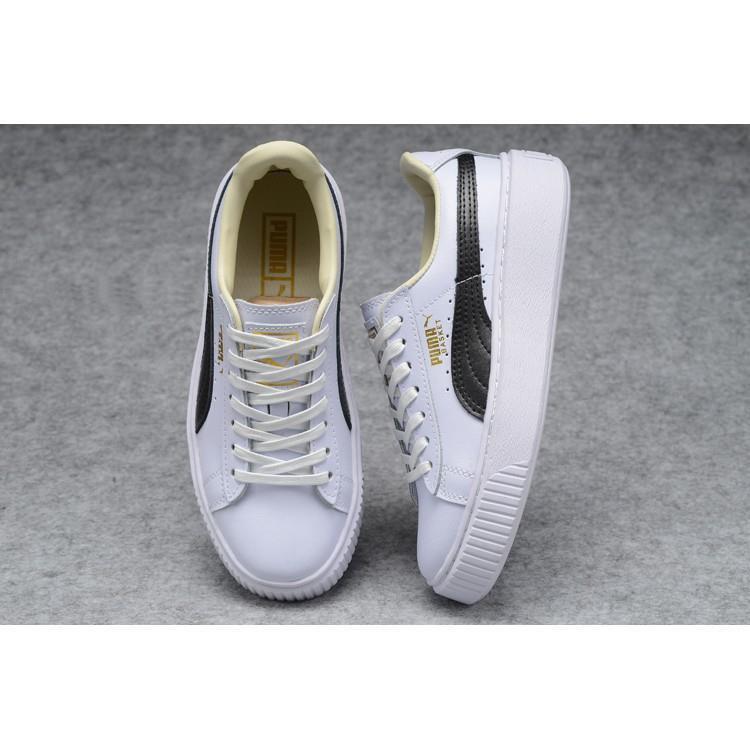 <AA> Puma suede แพลตฟอร์ม FL รองเท้าหนังแบบสบาย ๆ คลาสสิก 24