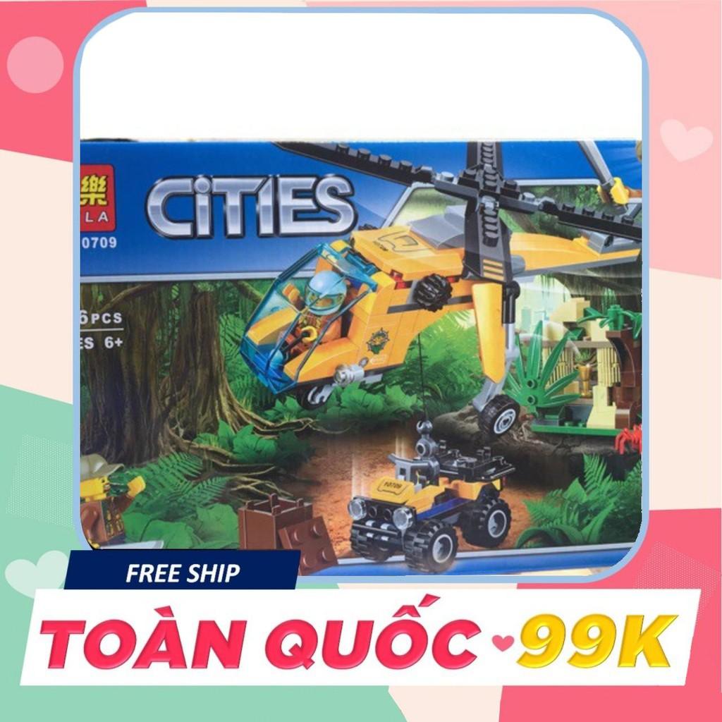 [Giá Tốt] Lego City Urban 10709 Máy bay trực thăng thám hiểm rừng