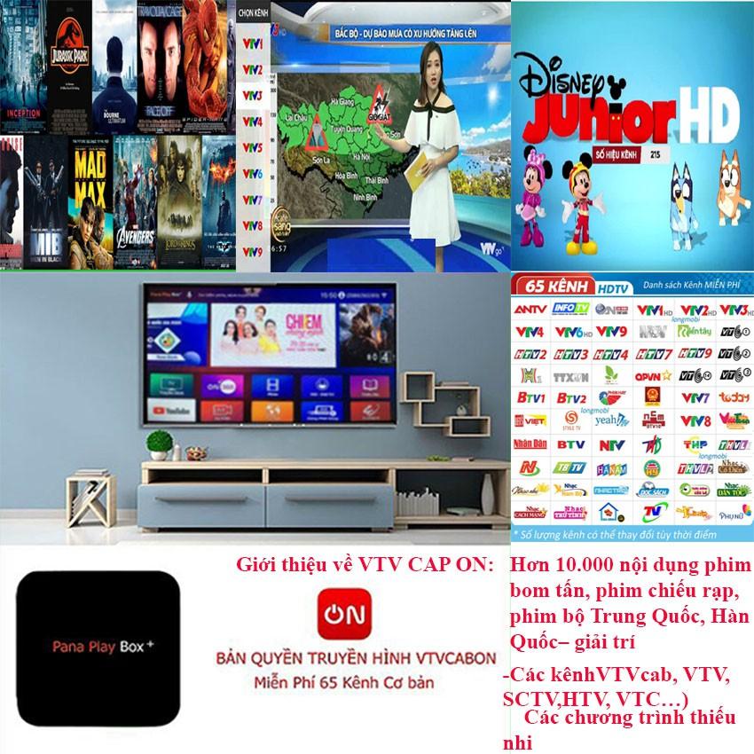 Tivi box PANA PLAY BOX RAM 4GB ROM 32GB Tặng gói VtvCab 12 Tháng Miễn phí