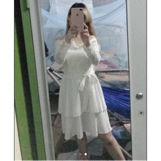 [đồ thanh lý 247] [hot girl] pass đầm trắng size s dưới 50kg tuỳ chiều cao