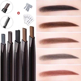 Double-headed eyebrow pencil novice must-have lazy waterproof and sweat-proof, natural fine-headed ultra-fine beginners, long-lasting and no smudgingblxy520.vn