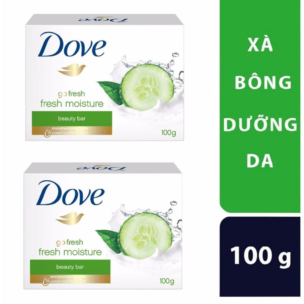 Bộ 2 xà bông dưỡng da Dove dưa leo 100G