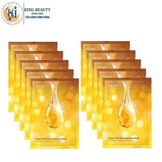 Combo 10 Mặt Nạ Dưỡng Da Mật Ong Chuyên Sâu, Làm Mờ Đốm Nâu, Vết Thâm AGE20 s Honey SOS Day Luminous Mask 30g x 10 thumbnail