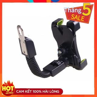 Giá sỉ - Khung kẹp điện thoại cho xe máy, khung gắn điện thoại cho xe máy